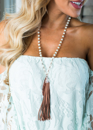 The Perfect Pearl and Tassels Necklace