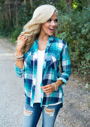 Perfect in My Eyes Plaid Button Up Top