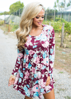 Above Any Other Floral Dress Wine