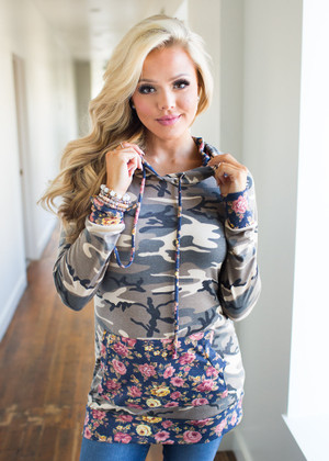 Camo Floral Hoodie CLEARANCE