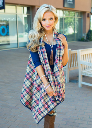 The Way She Smiles Plaid Vest CLEARANCE