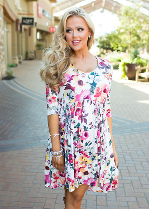The Time I Fell In Love Floral Dress