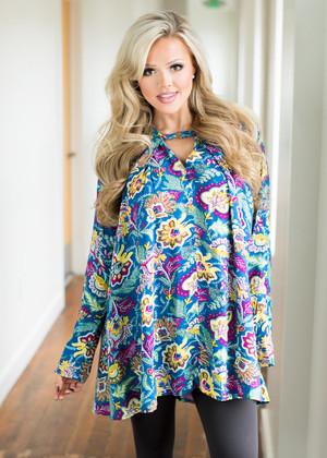 You're So Beautiful Multi Paisley Long Sleeve Dress CLEARANCE