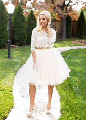 Flirty in Blush Tulle Skirt CLEARANCE