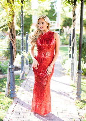 Be My Baby Sequin Open Back Tank Maxi Red
