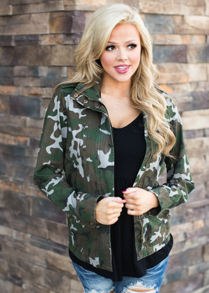 Forever Changed Long Sleeve Camo Jacket CLEARANCE