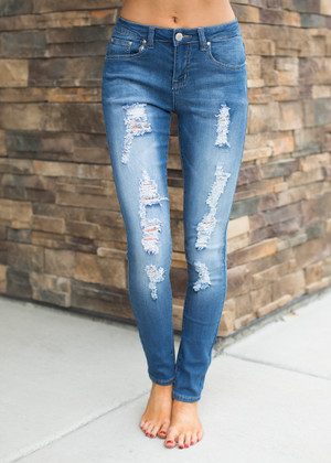 I Never Knew Distressed Jeans CLEARANCE