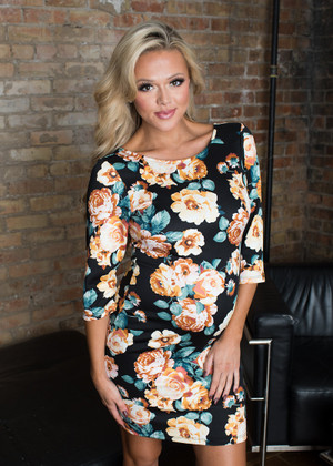 I Can Do It Floral 3/4 Sleeve Dress Black/Yellow