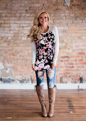 Feeling Brand New Floral Long Sleeve Top