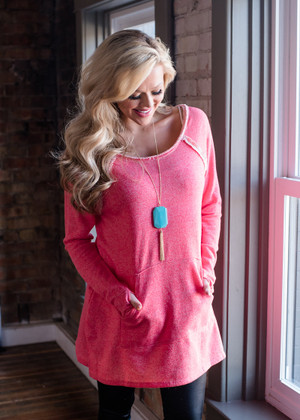 All We Know Pocket Tunic Pink