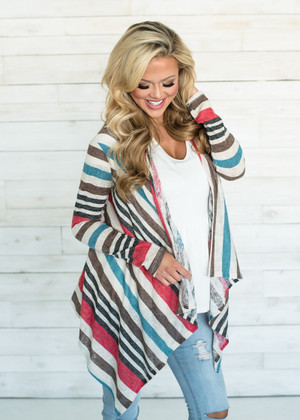 Lost Without You Striped Cardigan