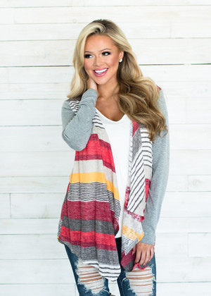 Something in Your Words Striped Cardigan