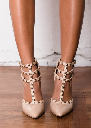 Triple Decker Edge Heels Beige