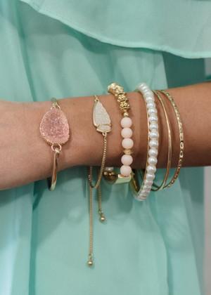 Classy Pink Perfection Bracelet Set