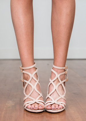 Step a Little Closer Heels Beige