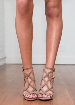 Step a Little Closer Heels Brown