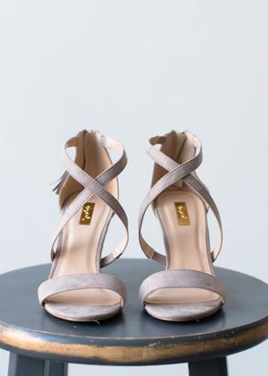 Stunning Strappy Heels Beige