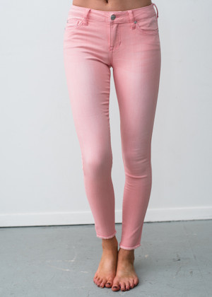 Shining Brightly Skinny Jeggings Pink