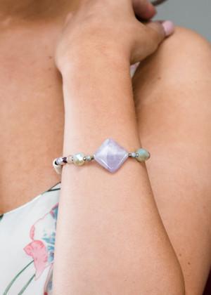 Simply Beaded Bracelet Purple CLEARANCE