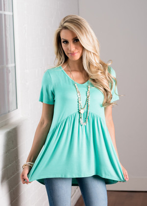 A Little Bit of Ruffles Top Mint