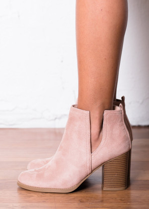 With a Purpose Heeled Booties Pink