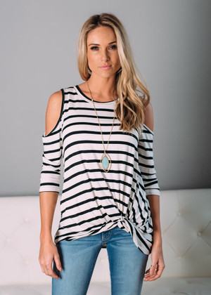 Wild and Free Open Shoulder Top White