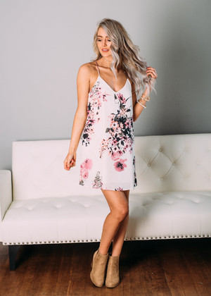 More Than You Know Floral Dress Ivory