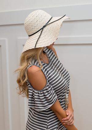 Ivory Lace Floppy Hat