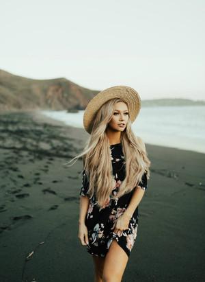 Open Ruffle Shoulder Floral Dress Black
