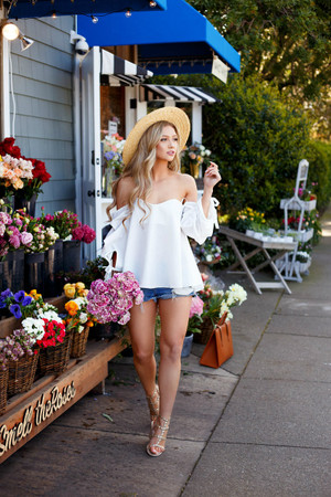 Still Not Good Enough Off Shoulder Top White