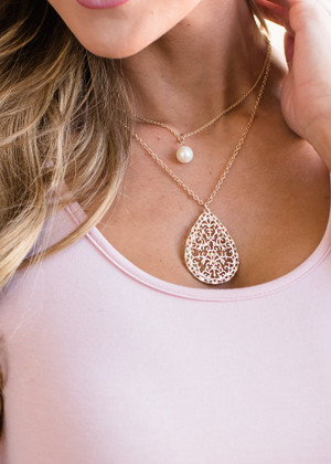 Two Strand Perfect Gold Necklace