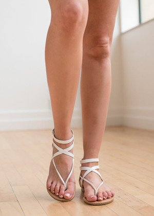 Keep It Simple Sandals White