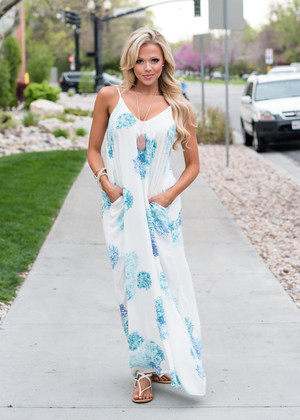 Safe In These Arms Floral Maxi Dress Ivory