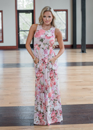 I'll Never Miss You Floral Tank Maxi Pink