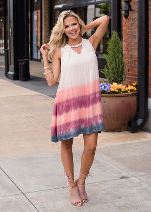 Tie Dye at the Bottom Dress