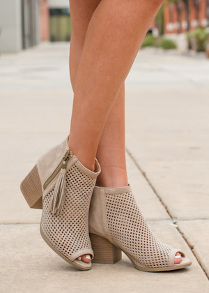 On the Floor Heels Taupe