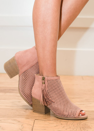 On the Floor Heels Mauve CLEARANCE