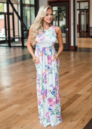 Never a Dull Moment Floral Maxi Dress