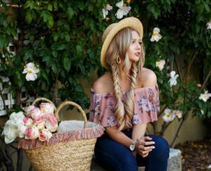 Make Up Your Mind Floral Off Shoulder Bodysuit Mauve CLEARANCE