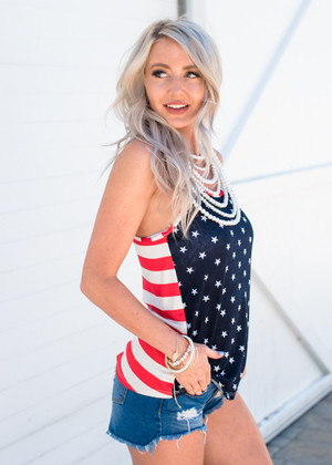 Take Me Home Stars and Stripes Tank