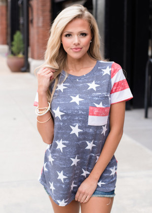 Freedom Stars and Stripes Top