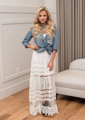 Don't Call Me Baby White Lace Maxi Skirt