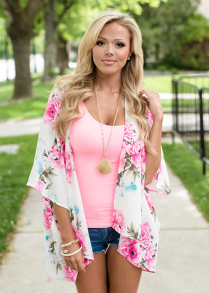 You Are My Dream Floral Kimono Ivory