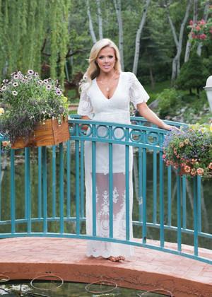 Beautiful Crochet Lace White Maxi