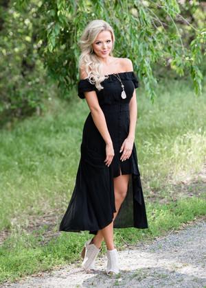 Envious Off Shoulder High Low Detailed Dress Black