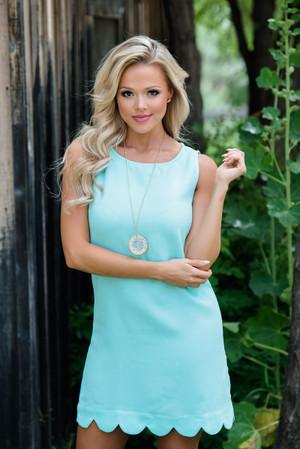 Perfectly Scalloped Dress Mint
