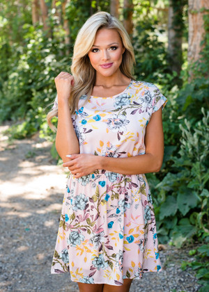 Undiscovered Floral Short Dress Pink