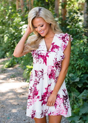 Filled with Love Ruffle Floral Dress