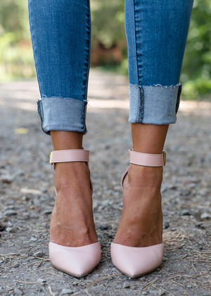 Faux Leather Isabel Heels Blush