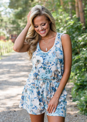 Don't Say It's Too Late Floral Tank Romper